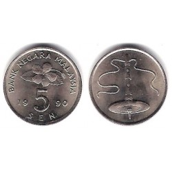 (50) Malasia. 1990. 5 Sen (SC)