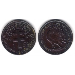Africa Ecuatorial Francesa. 1943. 1 Franc (EBC+)