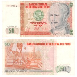 (131b) Perú. 1987. 50 Intis (EBC+)