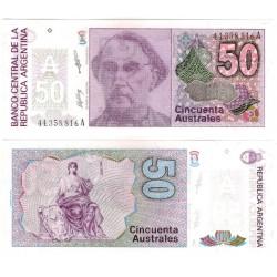 (326b) Argentina. 1986-89. 50 Australes (SC)