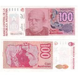 (327b) Argentinas. 1985-90. 100 Australes (SC)