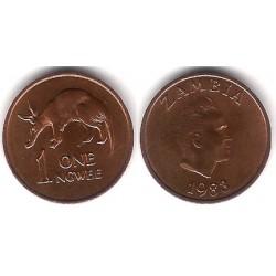 (9a) Zambia. 1983. 1 Ngwee (EBC+)