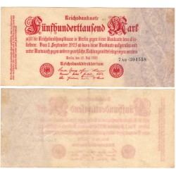 (92) Imperio Alemán (Weimar). 1923. 500000 Mark (MBC+)