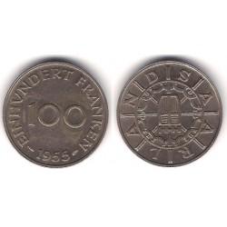 (4) Saarland. 1955. 100 Francs (MBC)