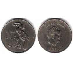 (12) Zambia. 1968. 10 Ngwee (BC+)