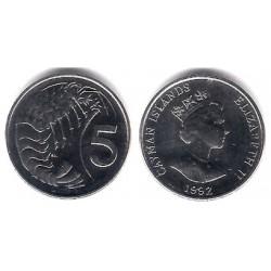 (88a) Islas Caimán. 1992. 5 Cents (SC)