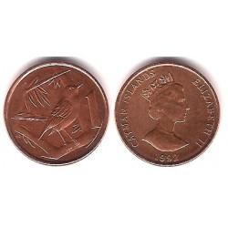 (87a) Islas Caimán. 1992. 1 Cent (SC)