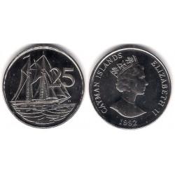 (90a) Islas Caimán. 1992. 25 Cents (SC)