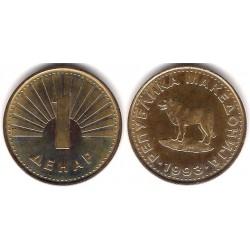 (2) Macedonia. 1993. 1 Denar (EBC)