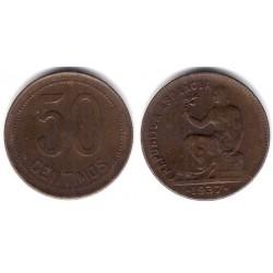 España (II República). 1937*(3-6). 50 Céntimos (EBC)