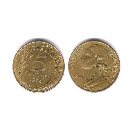 (933) Francia. 1974. 5 Centimes (BC)