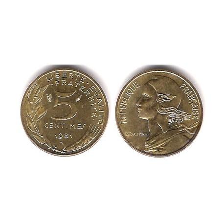 (933) Francia. 1981. 5 Centimes (EBC)