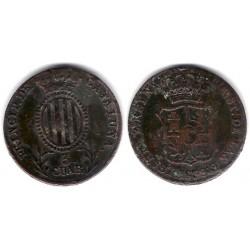 Isabel II. 1838. 3 Cuartos (BC-) Ceca de Cataluña