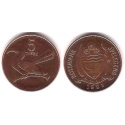 (4a.1) Botswana. 1991. 5 Thebe (EBC)