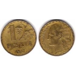 España (II República). 1937. 1 Peseta (BC+) Busto Grande