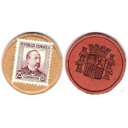 España (II República). 1937. 25 Céntimos (SC)