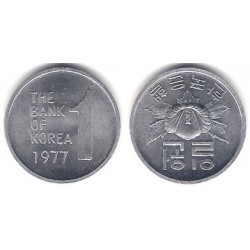(4a) Corea del Sur. 1977. 1 Won (EBC+)