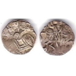 Hindu-Shahi. 700-900 d.C. Dracma (MBC) (Plata)