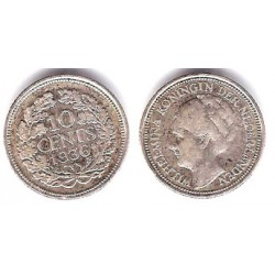 Paises Bajos. 1936. 10 Cents (MBC+)