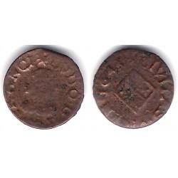 Luis XIV (Principado Catalán). 1643. Dinero (RC+) Ceca de Vic