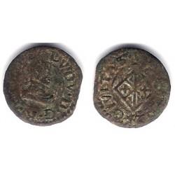 Luis XIII (Principado Catalán). 1642. Dinero (BC-) Ceca de Vic