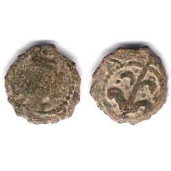 Carlos I. 1516-58. Dinero (RC+) Ceca de Lérida