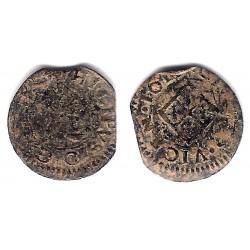 Felipe IV. Sin Fecha. Dinero (BC-) Ceca de Vic