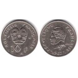 (5) Polinesia Francesa. 1967. 10 Francs (MBC)