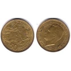 (132) Mónaco. 1950. 50 Francs (EBC+)