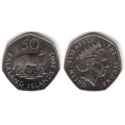 (135) Islas Malvinas. 2003. 50 Pence (SC)