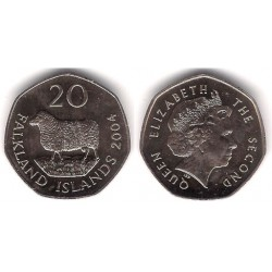 (134) Islas Malvinas. 2004. 20 Pence (SC)