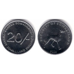 (6) Somalilandia. 2002. 20 Shillings (SC)