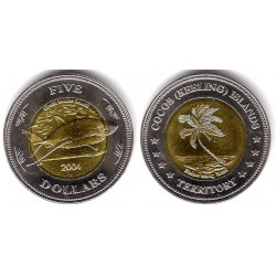 Islas Cocos. 2004. 5 Dollars (SC)