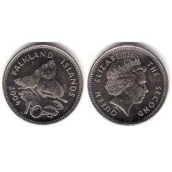 (133) Islas Malvinas. 2004. 10 Pence (SC)