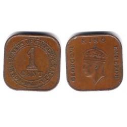 (2) Malaya. 1940. 1 Cent (MBC)