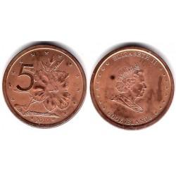 (758) Islas Cook. 2010. 5 Cents (SC)