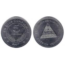 Nicaragua. 2007. 5 Cordobas (EBC+)