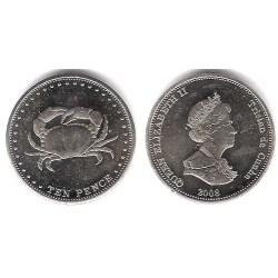 Tristán de Acuña. 2008. 10 Pence (SC)