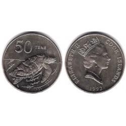 (41) Islas Cook. 1992. 50 Tene (SC)