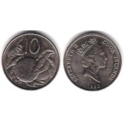 (34) Islas Cook. 1992. 10 Cents (SC)