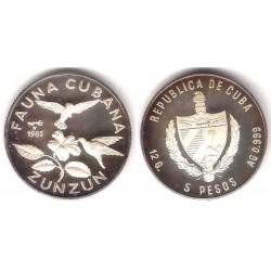 (76) Cuba. 1981. 5 Pesos (Proof) (Plata)