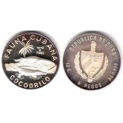 (74) Cuba. 1981. 5 Pesos (Proof) (Plata)