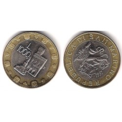 (368) San Marino. 1997. 1000 Lira (SC)