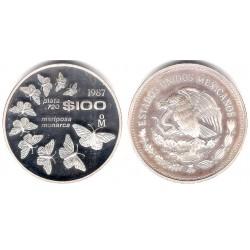 (537) Estados Unidos Mexicanos. 1987. 100 Pesos (Proof) (Plata)