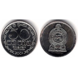 (135.2a) Sri Lanka. 2001. 50 Cents (SC-)