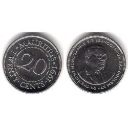 (53) Mauricio. 1991. 20 Cents (SC)