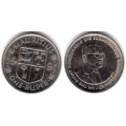 (55) Mauricio. 1991. 1 Rupee (SC)