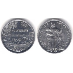 (10) Polinesia Francesa. 1991. 2 Francs (SC)