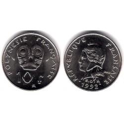 (8) Polinesia Francesa. 1992. 10 Francs (SC)