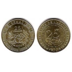 (20) Estados África Central. 2006. 25 Francs (SC)